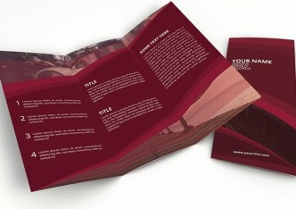 Creative Red Trifold Brochure PSD