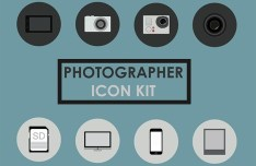 Photographer Icon Set PSD