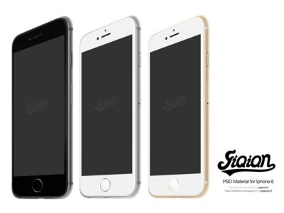 3 iPhone 6 Templates PSD