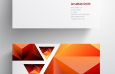 Abstract Triangle Business Card Template Vector