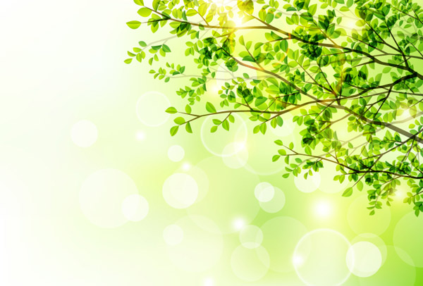 Spring Sunshine Tree Vector