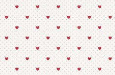 Valentine's Day Hearts & Dots Pattern Vector