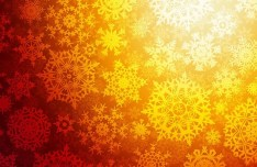 Golden Snowflakes Background Vector