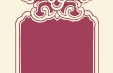 Vintage Floral Banner Vertical Vector