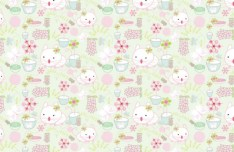 Cute Cats Pattern Vector