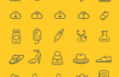 75 Outline Icon Set