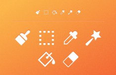 6 Toolbar Icons Vector