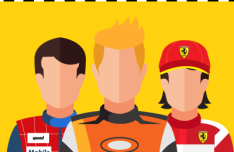 Racing Avatars Vector