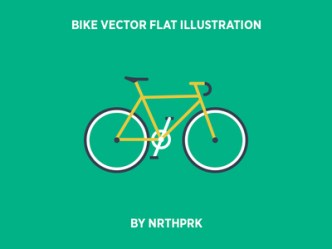 Bike Flat Illustration Vector