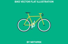 Bike Flat Illustration Vector