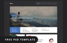 Media PSD Web Template