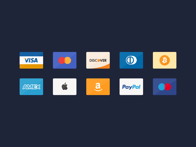 10 Flat Credit Card Icons