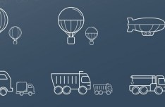 28 Transport Icons Vector