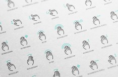 50 Gesture Icons Vector