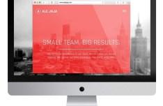 Single Page Website Template PSD