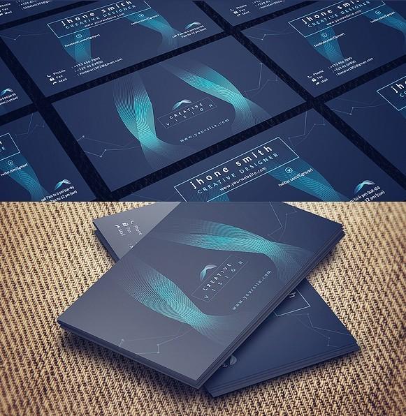 Free Abstract Hi Tech Business Card Template Psd Titanui