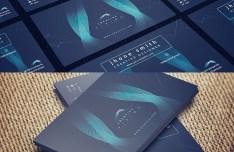 Abstract HI-Tech Business Card Template PSD