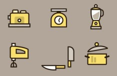 Kitchen Essential Icons Vector