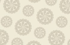 Retro Brown Floral Pattern Vector