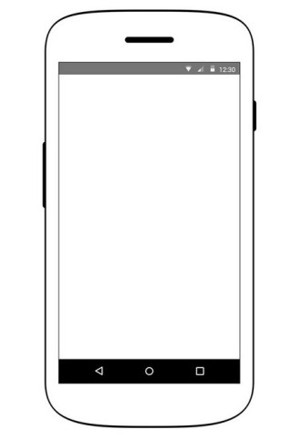 Android Device Wireframe PSD