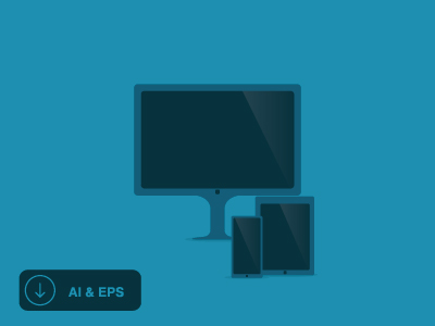 3 Flat Devices Vector