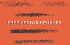 5 Halfstone Brushes Vector