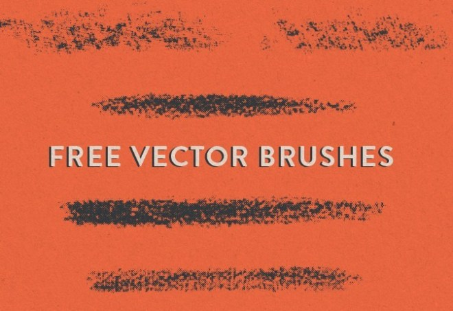 5 Halfstone Brushes Vector