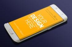 Samsung Galaxy S6 Edge Mock-ups PSD