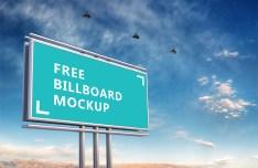 Green Outdoor Billboard Mockup PSD