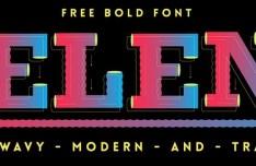 Helena Vector Bold Font