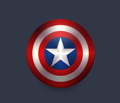 Captain America Shield Vector