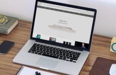 Macbook Workspace Mockup PSD