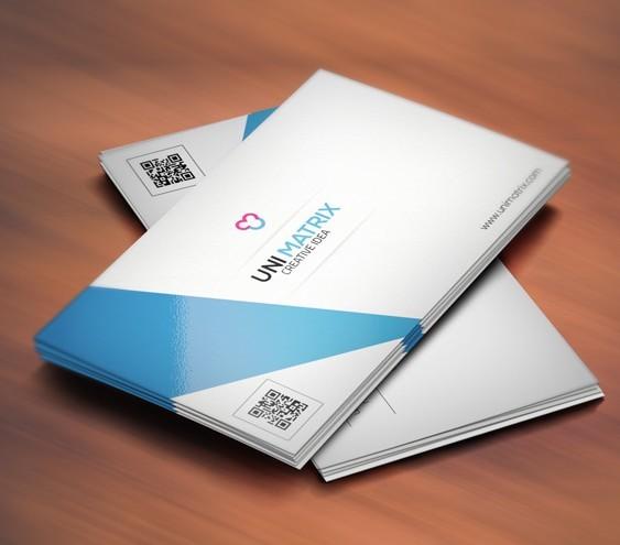Simple Clean & Creative Business Card Template PSD