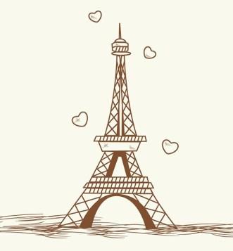 Hand Drawn Eiffel Tower Paris Vector
