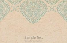 Retro Blur Floral Background Vector