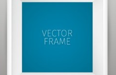 Vector White Photo Frame Template
