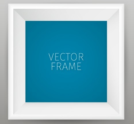 Vector White Photo Frame Template