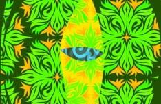 Floral Mystery Eye Vector