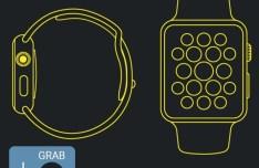 Apple Watch Line Mockup Vector