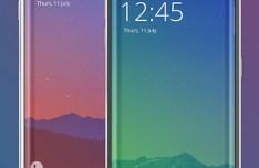 White Black Samsung Galaxy S6 Edge Templates PSD