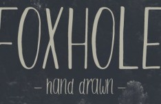 Foxhole Hand Drawn Typeface