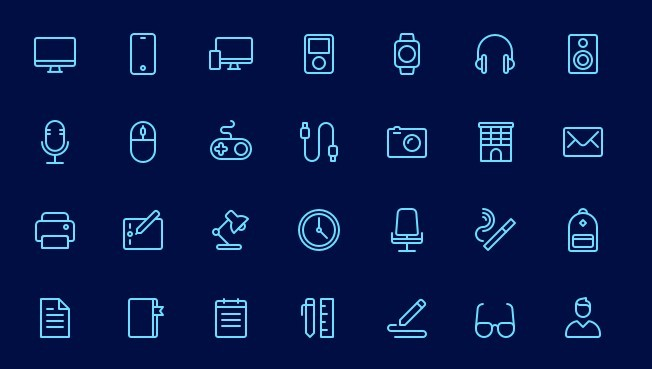 50+ Office Icons For Sketch