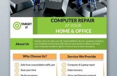 Computer Repair Flyer Template PSD