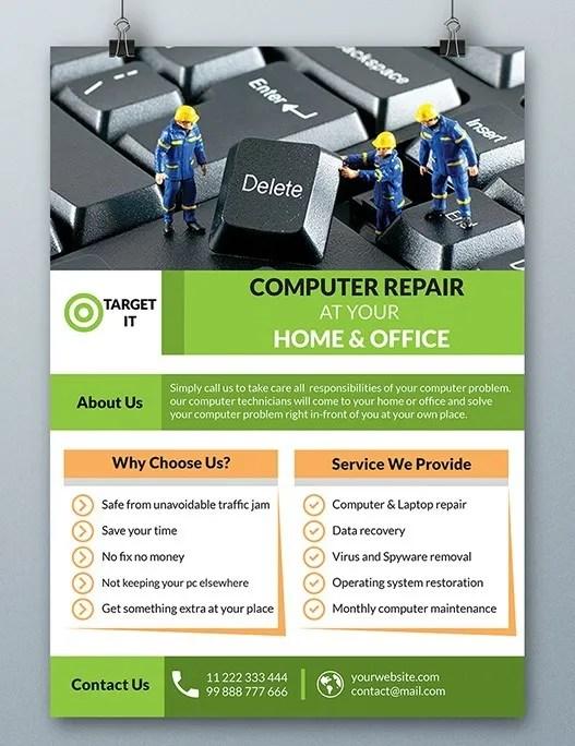Free Computer Repair Flyer Template Psd Titanui
