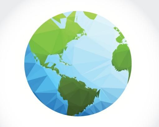 Polygon Earth Vector