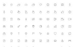 200 Nano Line Icons Vector