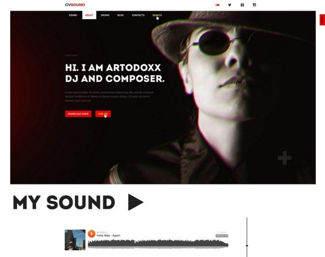 CVSound - Musical PSD Web Template