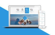 BlueSide Cross-platform Web Template PSD