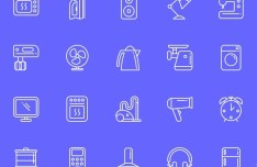 20 Appliance Line Icons