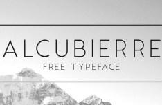 Alcubierre Typeface